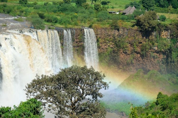 Ethiopian Blue Nile Falls in Bahidar